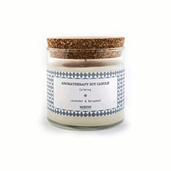 Soy candle - cork/glass jar - Calming by Mirins Copenhagen