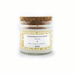 Soy candle - cork/glass jar - Recharge by Mirins Copenhagen