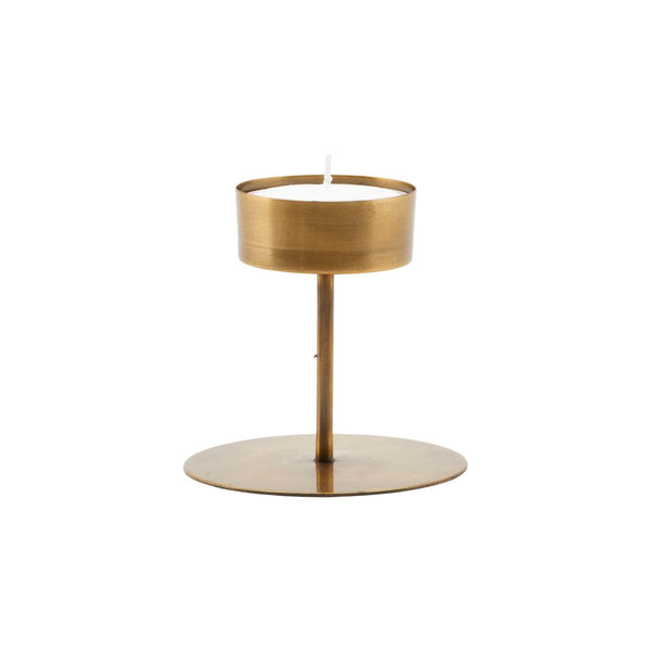 Candle stand, Anit, Antique Brass Look by House Doctor