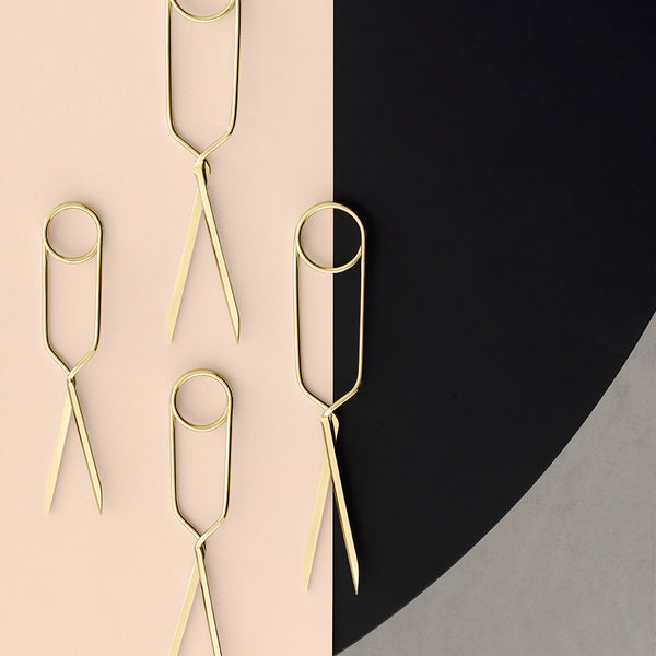 Spring Scissors in brass (Large) by Nomess