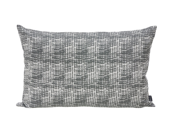 Static cushion in grey pattern by ferm LIVING