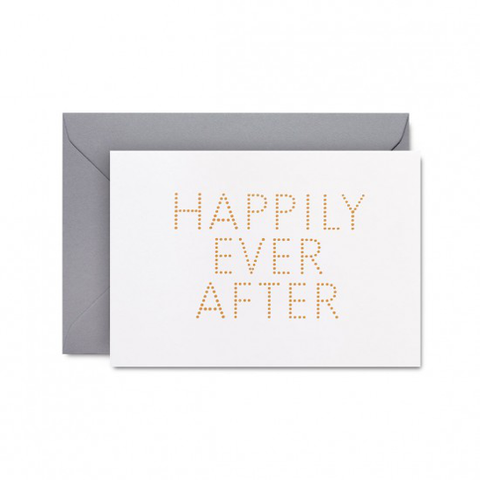 Happily Ever After card by Studio Sarah in white