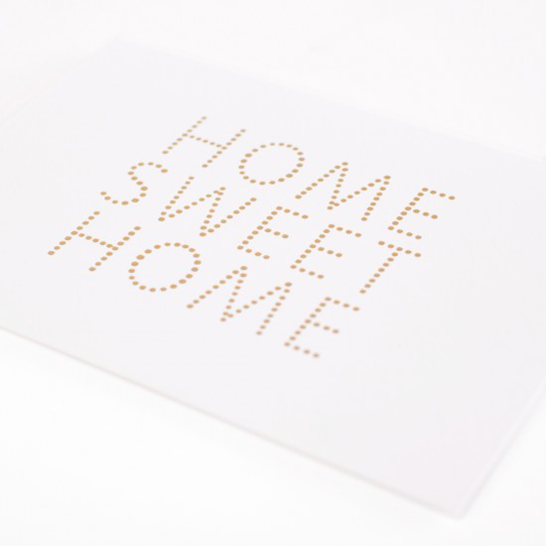 Home Sweet Home card by Studio Sarah in white context shot