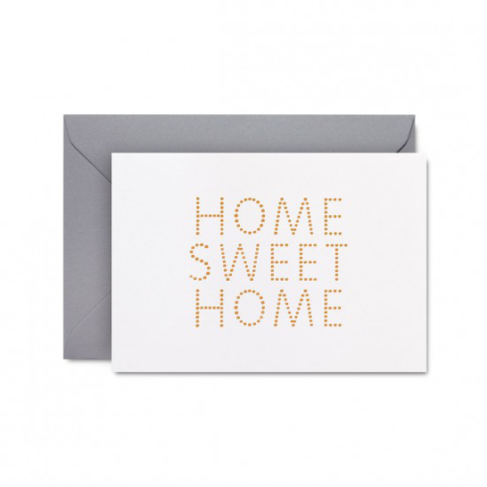 Home Sweet Home card by Studio Sarah in white