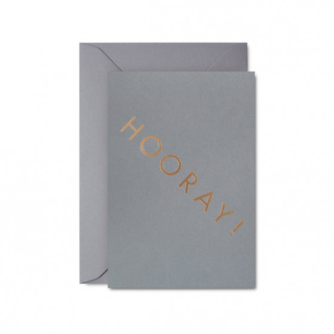 Hooray card (grey) by Studio Sarah