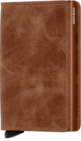 Slimwallet in Vintage Cognac Rust Leather by Secrid Wallets