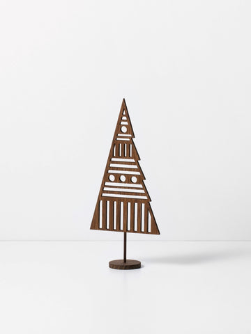 Winterland Wooden Tree Ornament in Laser Cut Oak by ferm Living