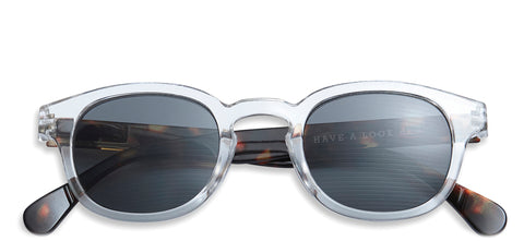 Type C sunglasses in Transparent with Horn temples by Have A Look
