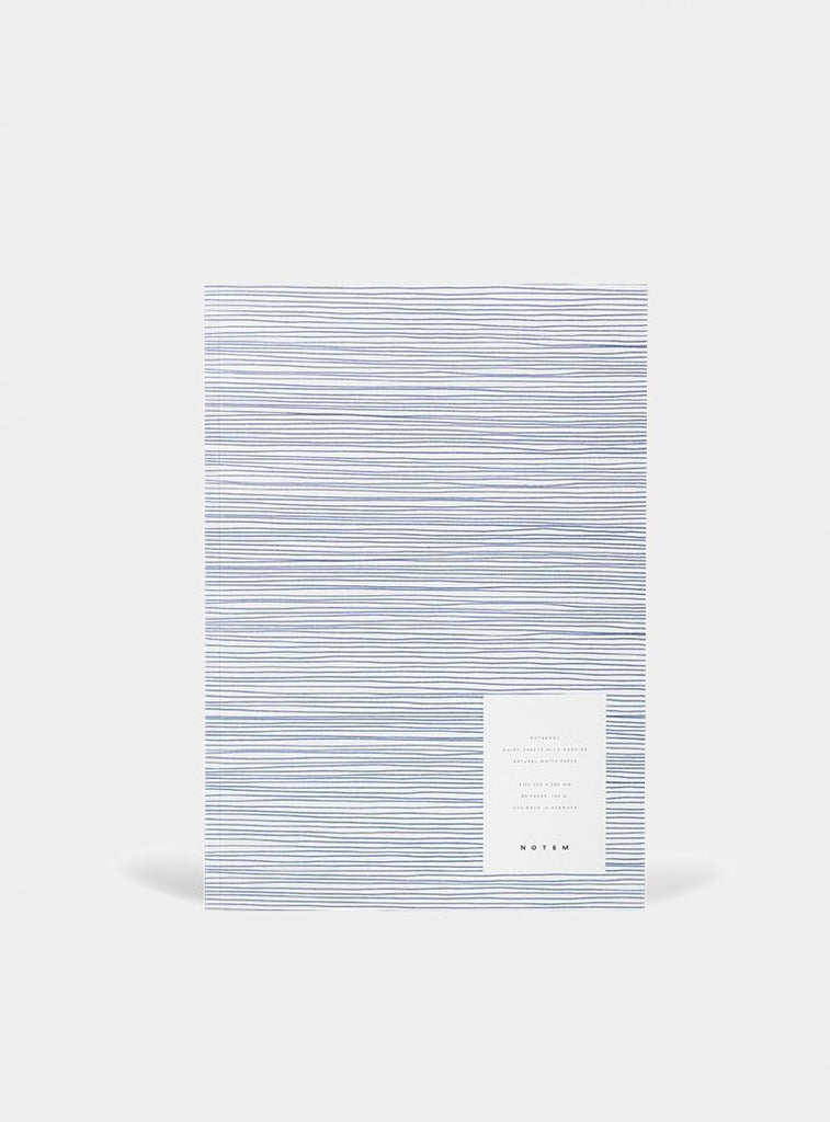 Notebook VITA with softcover - large - Striped Midnight Blue by Notem Studio