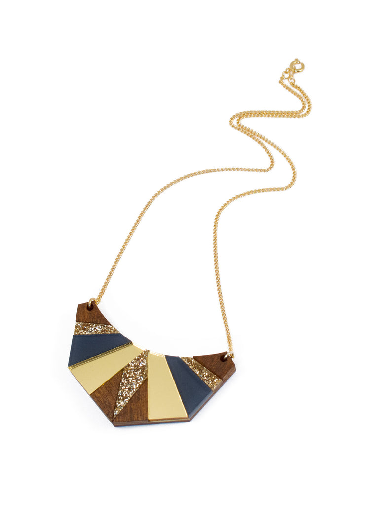 Egyptian necklace in Navy by Wolf & Moon