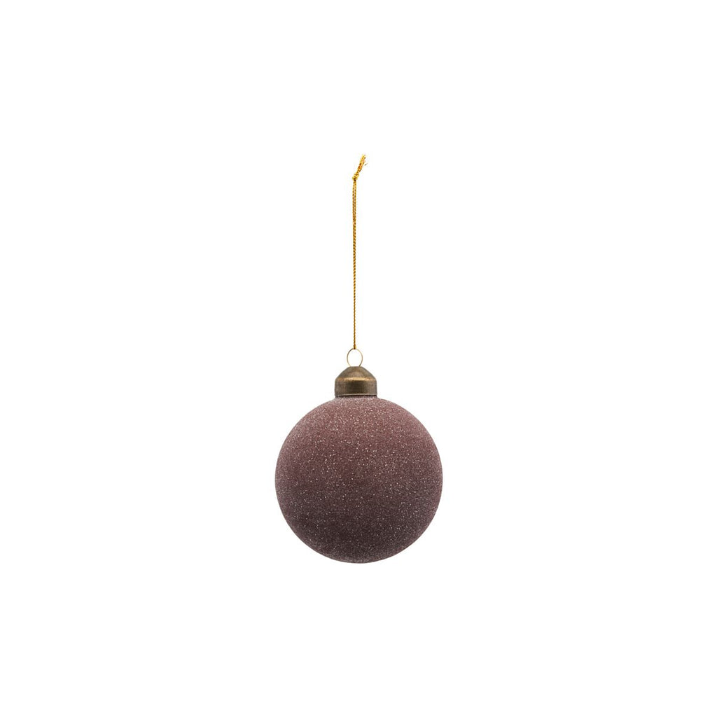 Christmas Bauble - Glittery - Plum in Small - by House Doctor