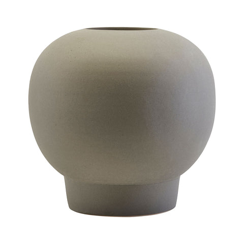 Spherical ceramic vase in grey - Bobble - by house doctor
