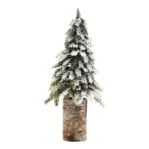 Decorative snow covered Christmas tree with LED lights - by House Doctor