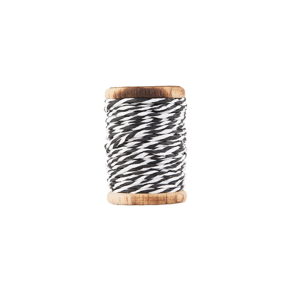 Ribbon - Twisted - White/Black 20m by House Doctor