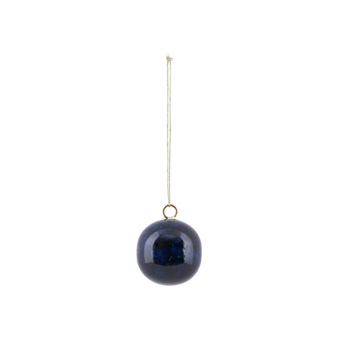 Blue Christmas Bauble - by House Doctor