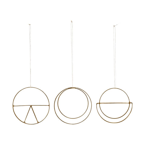 Minimal Brass Christmas decoration Set of 3 - by House Doctor