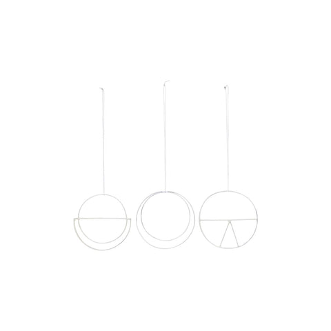 Minimal Silver Christmas decoration Set of 3 - by House Doctor