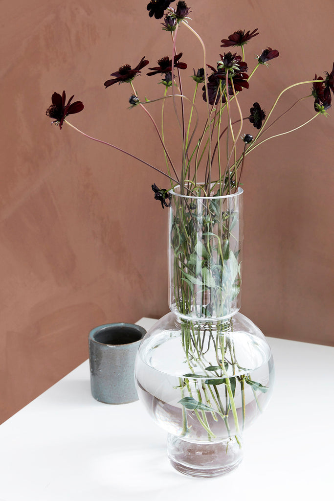 Large Glass Bubble Vase Lowa By House Doctor Life Story