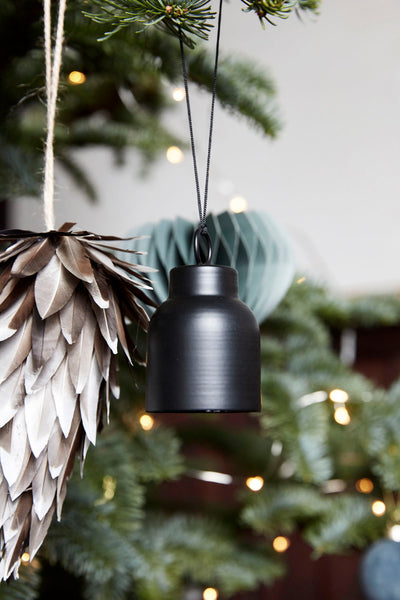 Black Bell Christmas Bauble - by House Doctor