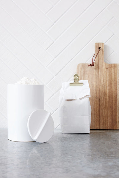 White Ceramic Jar with Lid - Kitchen - by House Doctor