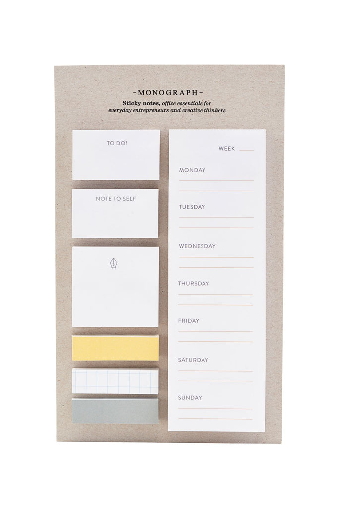 Sticky notes set - Monograph by House Doctor