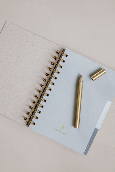 Brass Ballpoint Pen - 'Ball' - Monograph by House Doctor