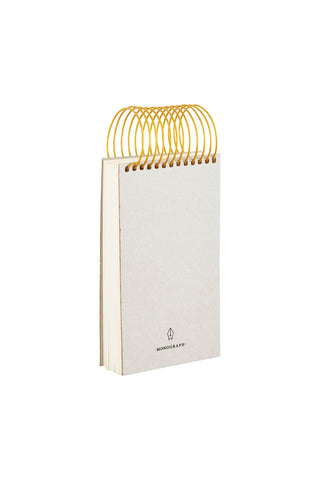 Notebook, Spiral, Grey, Brass by House Doctor
