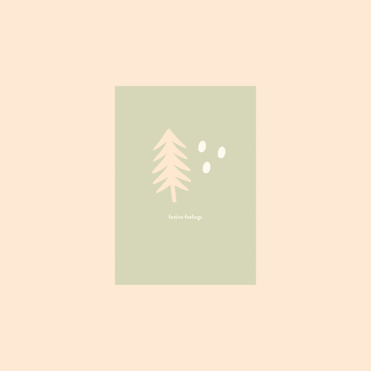 Festive Feelings Card by Hattie Maud