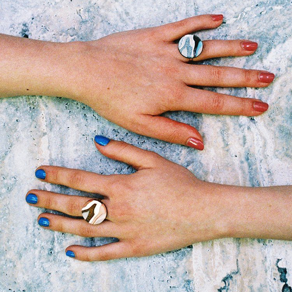 Context image of Marble I ring by Wolf & Moon