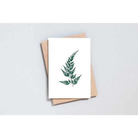 Wood Fern Card in Ivory/Green by Ola