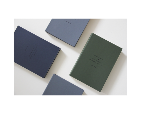 ALVA A5 Annual Journal 2020 in Dark Green or Blue by Notem Studio