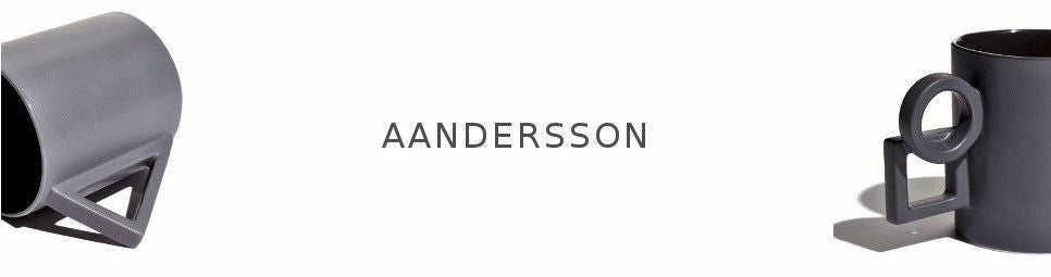 Aandersson mugs logo and staged product shots