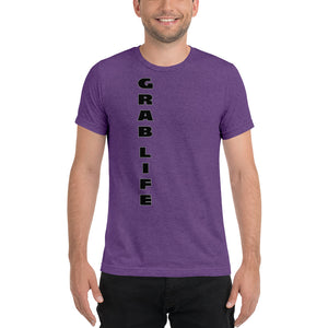 "positive message tshirt ""GRAB LIFE""  - t-blurt.com"