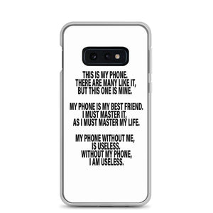 "Samsung Phone Case ""This is my phone"" - t-blurt.com"