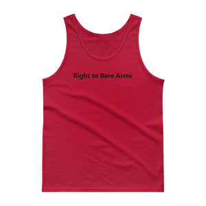 "Men's Tank top ""Right to bare arms"" - t-blurt.com"