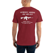 "Load image into Gallery viewer, 2nd Amendment Shirts, ""AR-15"" Mens T-Shirt - t-blurt.com"