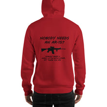 "Load image into Gallery viewer, Grunt Style Hoodie, ""AR-15"" Men's Hooded Sweatshirt - t-blurt.com"