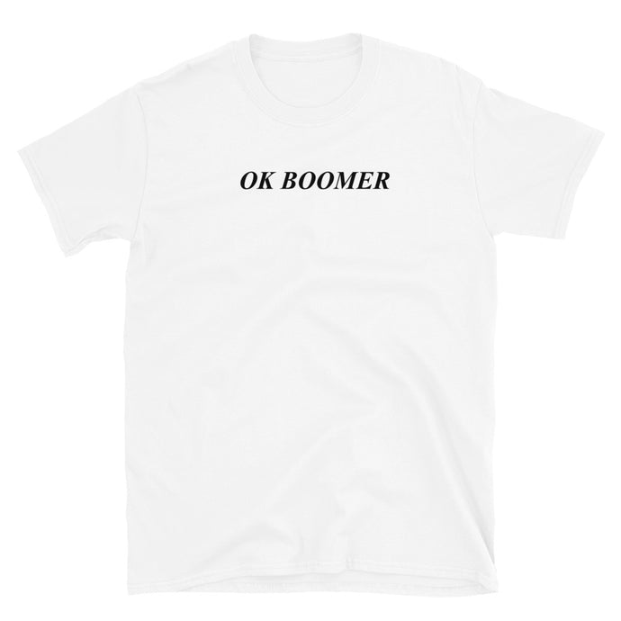 mens graphic tshirt ok boomer