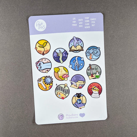 RolePins Sticker Sheets