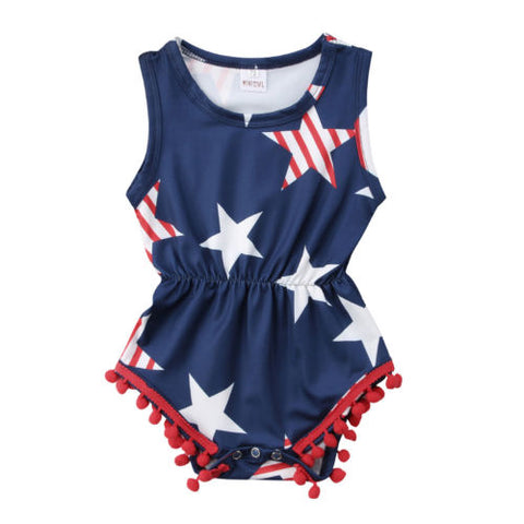Red, White & Blue Romper