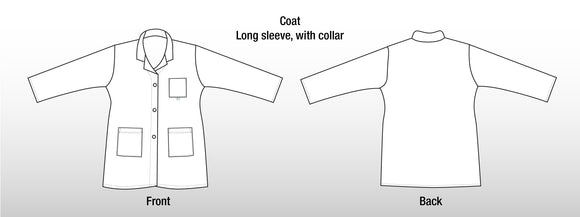 White Doctor's Coat - Long Sleeve