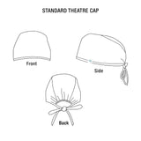Dental hand-printed theatre cap