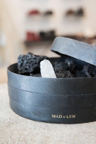Mad et Len Apothicaire lava totem grand potpourri pot. Made in France. Artisanal. Robin Richman boutique Chicago.