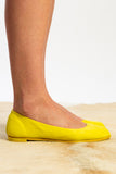 neon yellow guidi ballerina flat
