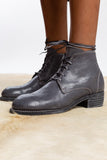 grey lace up guidi ankle boots