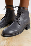 guidi ankle boots leather lace ups grey