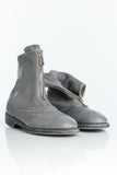 GUIDI 210 Grey Front Zip Boot