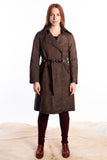 ISAAC SELLAM reflective linen coat