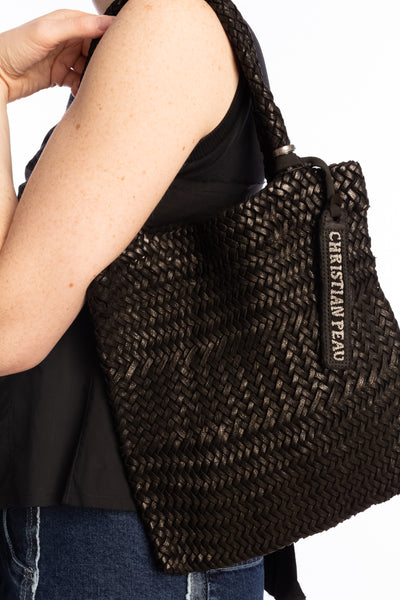 CHRISTIAN PEAU Mesh Square Woven Bag