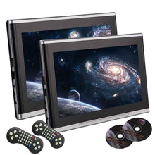 Load image into Gallery viewer, 10.1 inch Black Car DVD/USB/SD/Headrest Video Player LCD Monitor Dual Screen DVD Player Rear seat Entertainment HDMI Multi-media